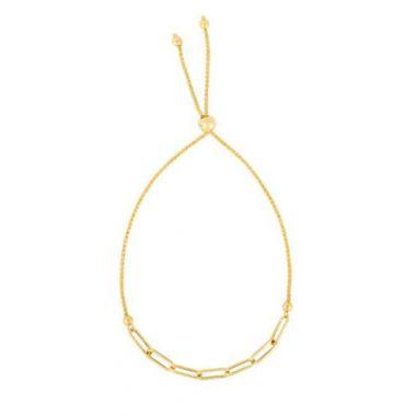 14K Gold Paperclip Friendship Bracelet