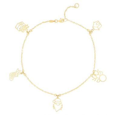Holiday Treasures 14k Christmas Bracelet  Special Edition