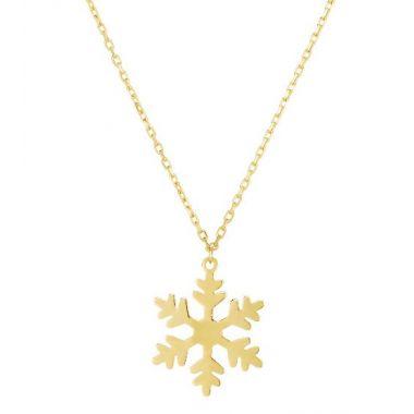 Holiday Treasures 14k Snowflake Pendant