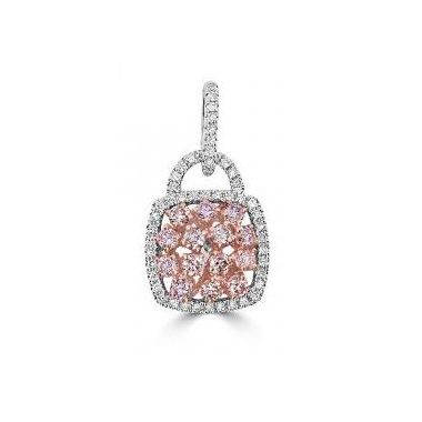 18k Natural Pink Diamond Pendant 1.30 Carat
