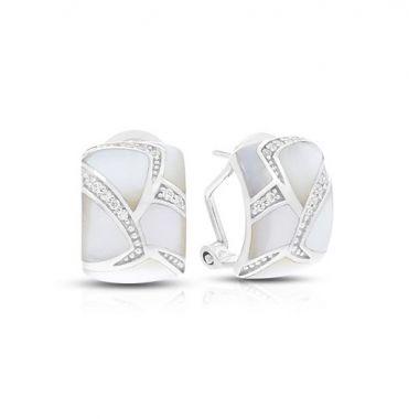 Belle Etoile Sierna M.O.P White Earrings