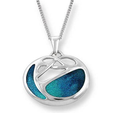 Nicole Barr Sterling Silver Art Nouveau Necklace-Turquoise