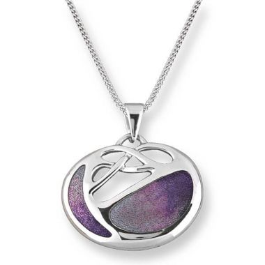 Nicole Barr Sterling Silver Art Nouveau Necklace-Lavender
