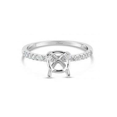 18k White Diamond Engagement Ring