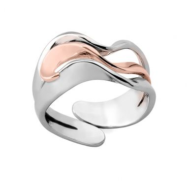 Jorge Revilla Sterling Silver & 18k Rose Ring