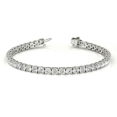 14k White Diamond Tennis Bracelet (8.11ctw)