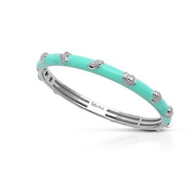 Belle Etoile Seashells Bangle Aquamarine