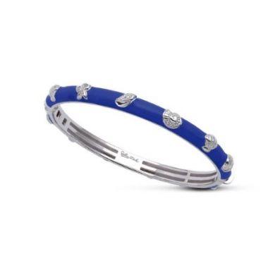 Belle Etoile Seashells Bangle Blue-Medium