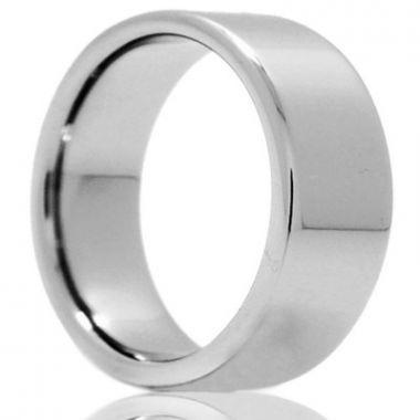 Gents Polished Tungsten Wedding Band