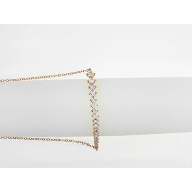 18k Rose Gold Diamond Bolo Bracelet