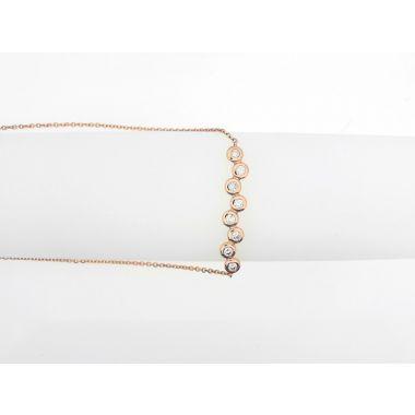 14k 1/5ctw Rose Gold Diamond Fashion Bolo Bracelet