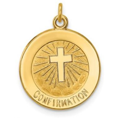14k Confirmation Medal Charm