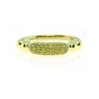 18k Yellow Gold with Natural Yellow Diamonds (.30ctw)
