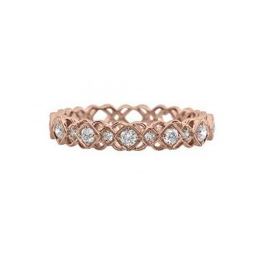 18k Rose Gold Diamond Fashion Ring (.25ctw)