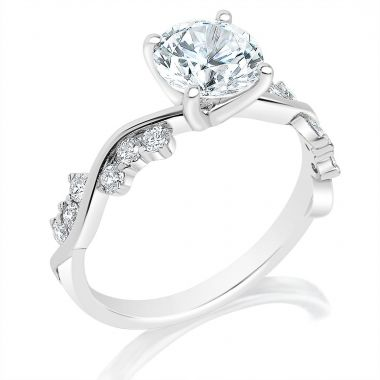 Classique 14k White Diamond Engagement Ring (.30ctw)
