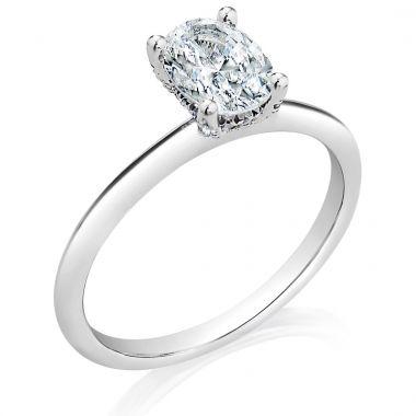 Classique 14k White Gold Solitaire Engagement Ring (.10ctw)