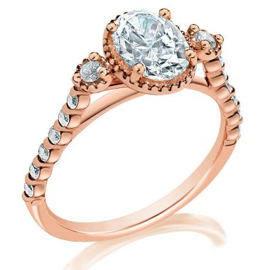 Classique 14k Rose Diamond Engagement Ring (.24ctw)